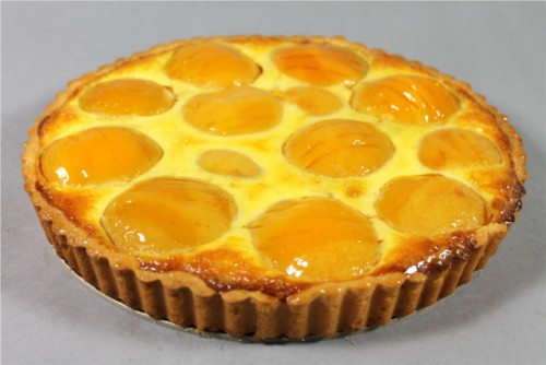 french peach ripe peach slices baked in frangipane and vanilla custard ...